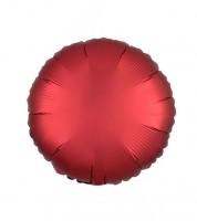 """Runder Folienballon """"Satin Luxe"""" - rot - 43 cm"""