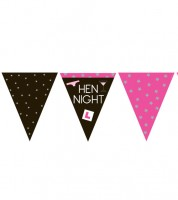 "Wimpelgirlande ""Hen Night"" - 3,7 m"