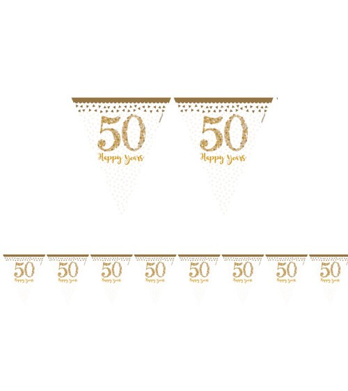 "Wimpelgirlande ""50 Happy Years"" - 4 m"