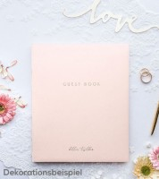 """Gästebuch """"Better Together"""" - rosa/gold"""
