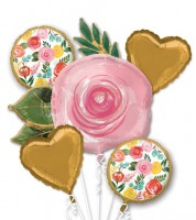 "Folienballon-Set ""Bright Florals"" - 5-teilig"