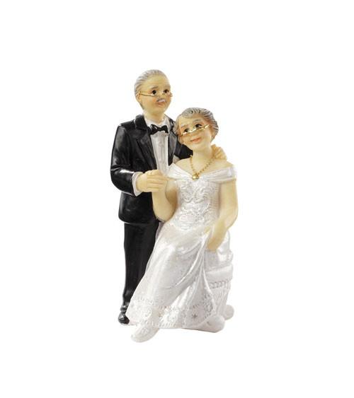 """Deko-Figur """"Silberne Hochzeit"""" - 7,5 cm"""