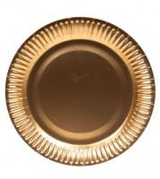Pappteller - metallic rosegold - 8 Stück