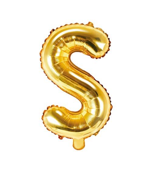 "Folienballon Buchstabe ""S"" - gold - 35 cm"