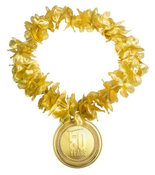 "Hawaii-Kette ""50"" - gold"