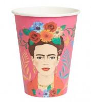 "Große Pappbecher ""Mexican Boho"" - Frida Kahlo - 12 Stück"