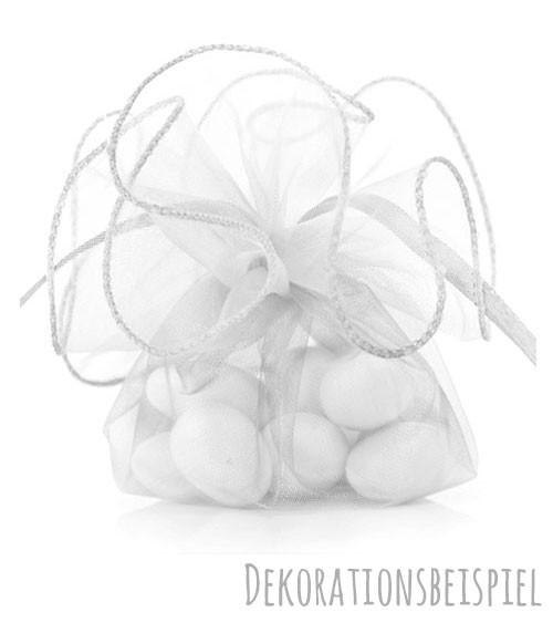 Organzasäckchen - weiß - 20 Stück