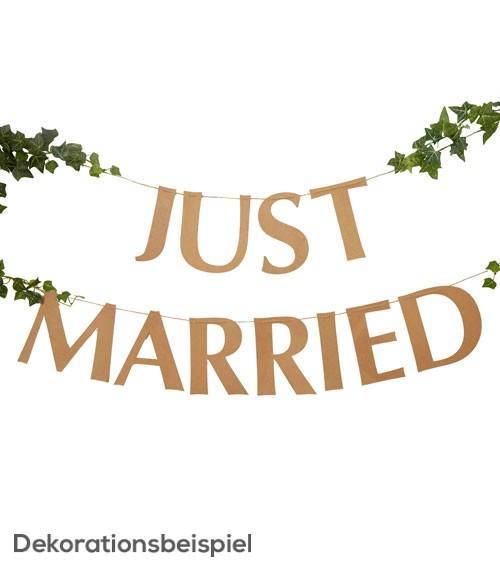 "DIY Schriftzuggirlande ""Just Married"" - Kraftpapier - 2 m"