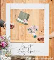 "Photobooth-Rahmen ""Best day ever"" - 60 x 72 cm"