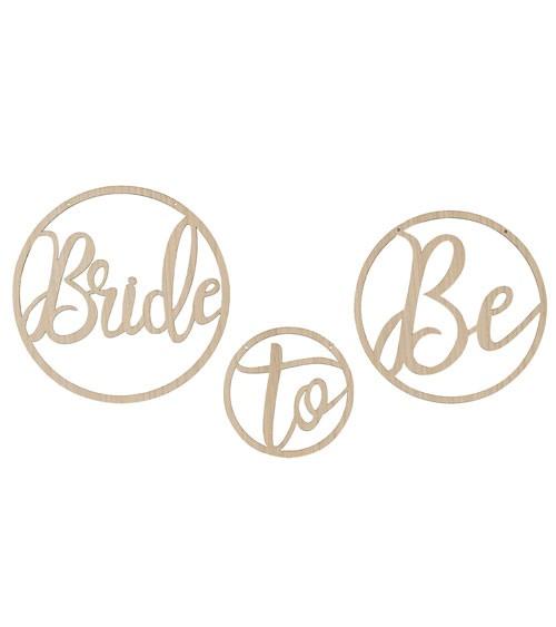 """Hängedekoration aus Holz """"Bride to Be"""" - 3-teilig"""