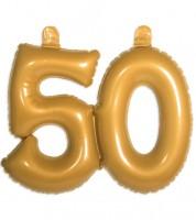 """Aufblasbare Zahl """"50"""" - gold"""