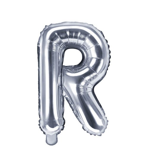 "Folienballon Buchstabe ""R"" - silber - 35 cm"