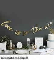 """Schriftzuggirlande """"Love is in the Air"""" - metallic gold - 2 m"""