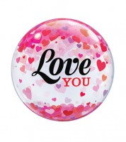 "Kugelballon ""Love You"" mit Herzen - 56 cm"