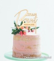 """Dein Cake-Topper """"Team Braut"""" aus Holz - Wunschtext"""
