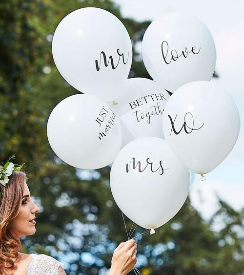 """Luftballon-Set """"Hochzeit"""" - 6-teilig"""