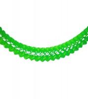 Seidenpapiergirlande - hellgrün - 4 m