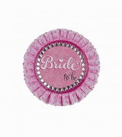 "Deluxe-Button ""Bride To Be"" - 11 cm"