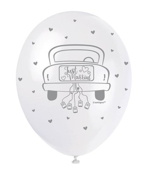"""Perlmutt-Luftballons """"Hochzeitsauto"""" - 30 cm - 5 Stück"""