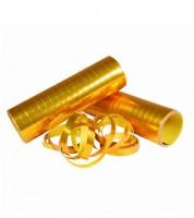 Luftschlangen - metallic gold - 3 Stück