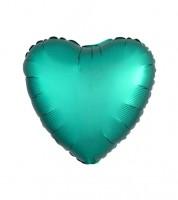 """Herz-Folienballon """"Satin Luxe"""" – grün – 43 cm"""