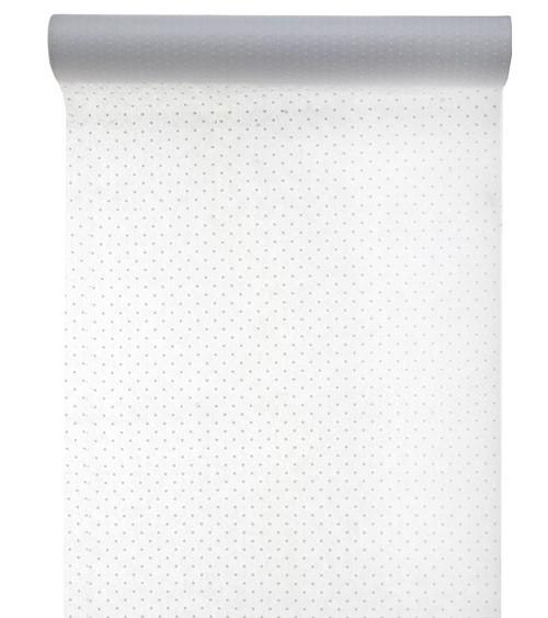 Tischläufer mit weißen Pünktchen - weiß - 30 cm x 5 m