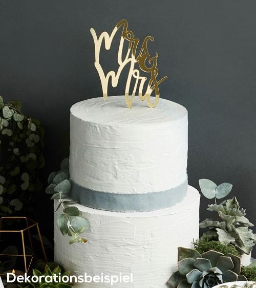 "Cake Topper aus Acryl ""Mr & Mrs"" - metallic gold"