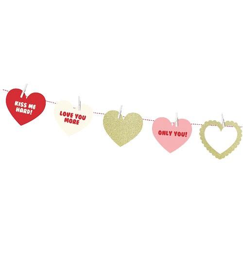 "DIY Herz-Girlande ""Sweet Love"" - 1,4 m"