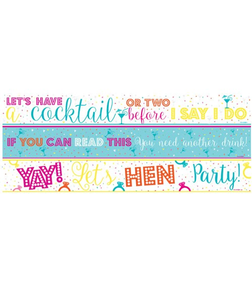 """Partybanner """"Hen Party"""" - Farbmix - 3-teilig"""