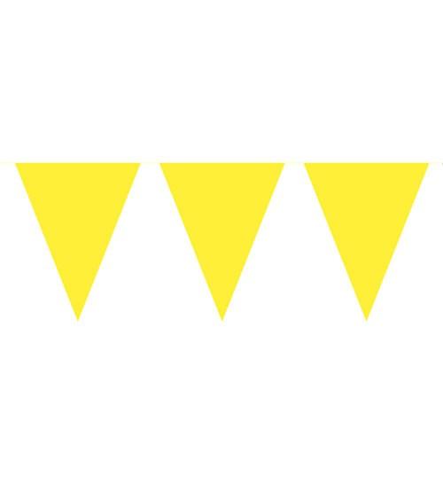 Wimpelgirlande aus Kunststoff - gelb - 10m