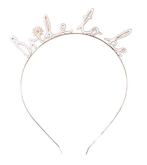 Bride to be-Haarreif aus Metall - weiß, rosegold