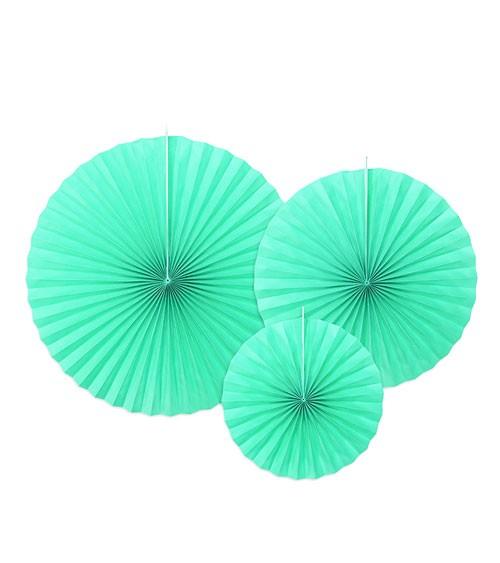 Rosetten-Set - tiffany blue - 3-teilig