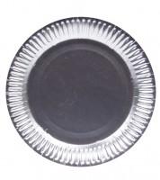Pappteller - metallic silber - 8 Stück