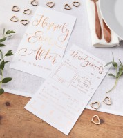 "Advice Cards ""Happily Ever After"" - rosegold - 10 Stück"