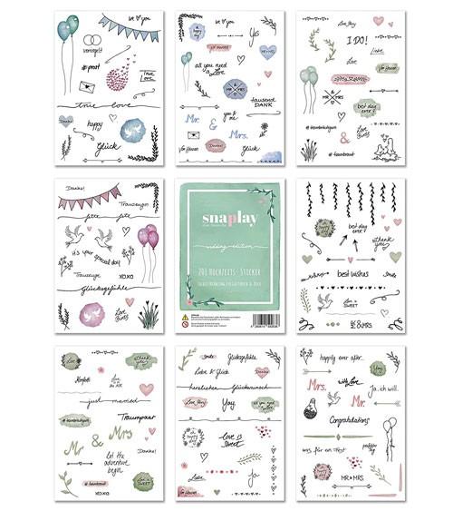 """Hochzeits-Sticker """"snaplay"""" - 201 Stück"""
