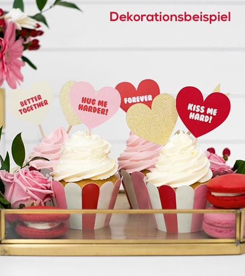 """Cupcake-Picks """"Sweet Love"""" - 6 Stück"""