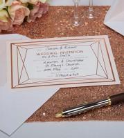 """Hochzeitseinladungen """"Geo Chic"""" - 10 Stück"""