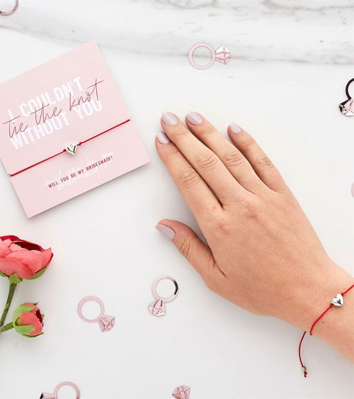 """Armband mit Karte """"Will you be my Bridesmaid?"""""""