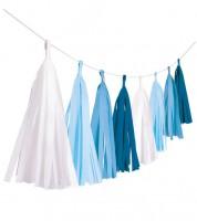 "DIY Tasselgirlande ""Farbmix Blau"" - 3 m"