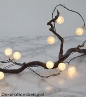 """LED-Lichterkette """"Kleine Kugeln"""" - weiß - 2,40 m"""