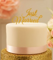 "Kuchenstecker ""Just Married"" - gold"