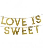 "DIY Schriftzuggirlande ""Love is sweet"" - gold - 2 m"