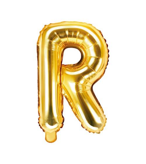 "Folienballon Buchstabe ""R"" - gold - 35 cm"