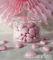 Schokoladen-Herzen - rosa - 1 kg