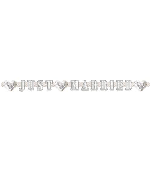 "Schriftzuggirlande ""Just Married - Eheringe"" - 2,15 m"