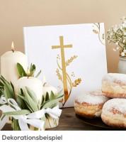 Gästebuch mit goldenem Kreuz