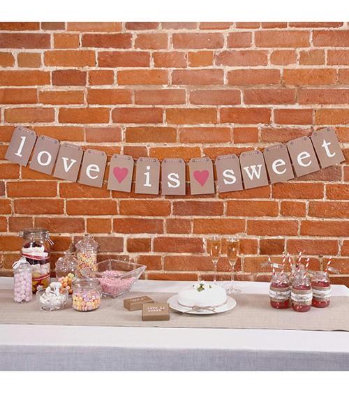 "Candy Bar Girlande ""Love is sweet"""