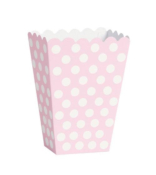"Süßigkeitenboxen ""Big Dots"" - Lovely Pink - 8 Stück"