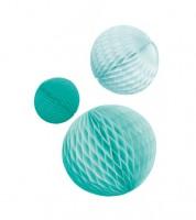 """Wabenball-Set """"Farbmix Aqua"""" - 3-teilig"""