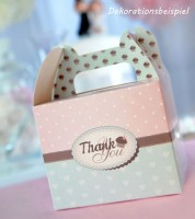 "Lunchboxen ""Thank You"" - mint/rosa - 10 Stück"